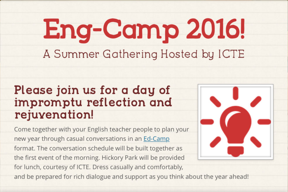Why You Should Attend Eng Camp Iowa Council Of Teachers Of English